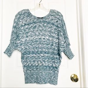 Charlotte Russe Blue & White Sweater
